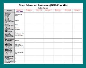 OER Checklist
