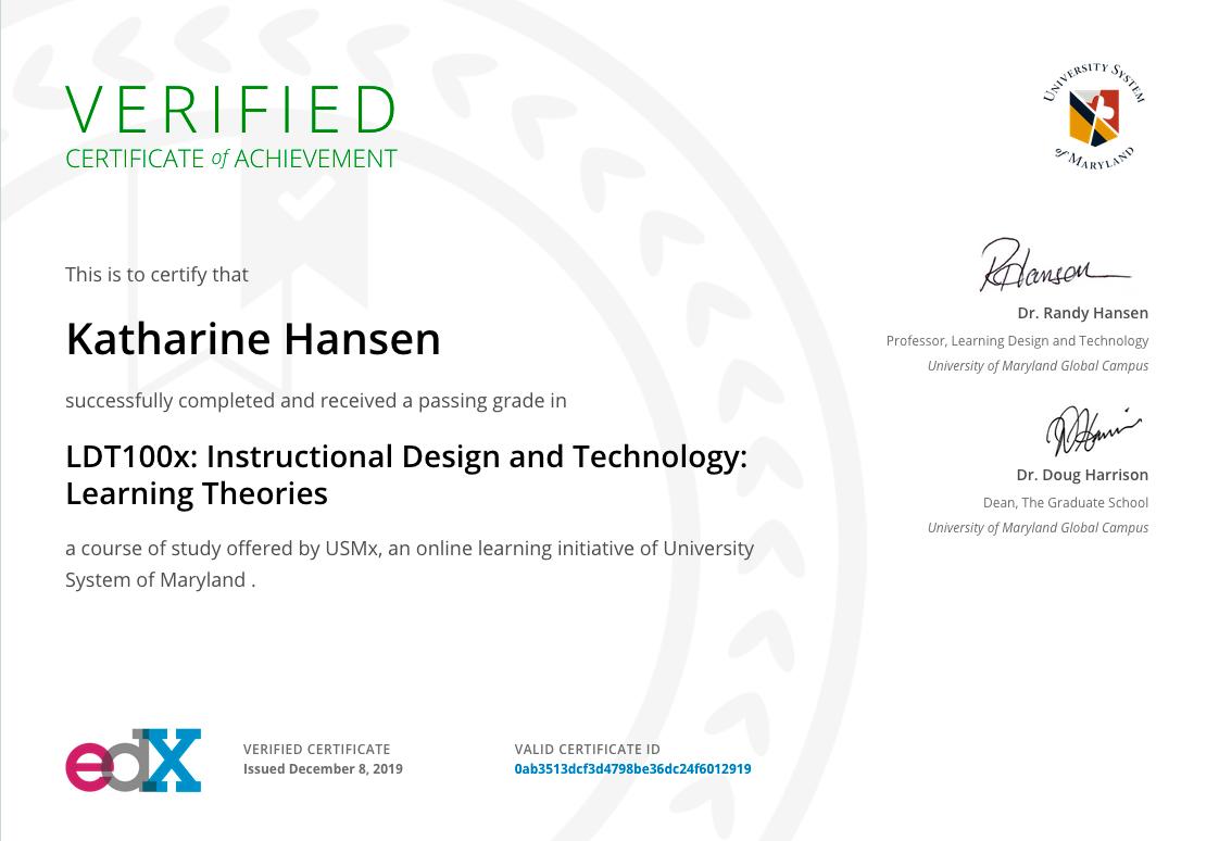 LDT100x Certificate